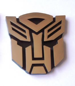 Transformers Autobot Decepticon Car Chrome Badge Emblem